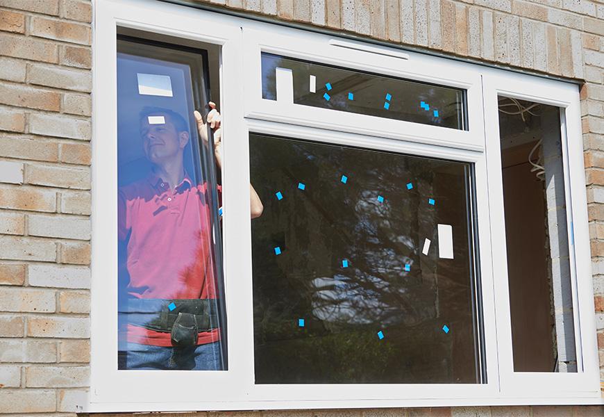 Трёхстворчатое окно ПВХ с фрамугой, система профиля Proplex